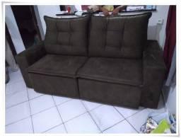 Sofá Retrátil e Reclinável em tecido SUED com pillow