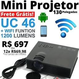 Mini Projetor 130 Polegadas 12x R$69,98 - Frete Grátis!