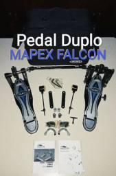 MELHOR Pedal Duplo Mapex Falcon Pratos Sabian Paiste Pedestal Pearl Guitarra 7 Cordas