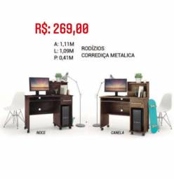 Mesa para Computador com Rodízios