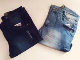 Kit 2 calças jeans