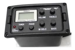 Pré-Equalizador Para Violão Tagima, Modelo TEQ-3 Com Afinador