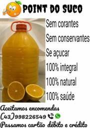 Suco de laranja 100% natural