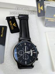 Relógios Nibosi Empresário! A prova d'Agua 3atm Modelo Exclusivo