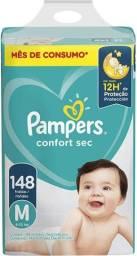 Fralda Pampers Confort Sec M 148 Unidades