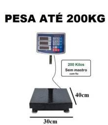 Balança digital até 200 kg plataforma com bateria recarregável nova na cx entrego