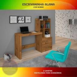 Escrivaninha Mesa Para Computador/Notebook 2 gavetas - Pronta Entrega