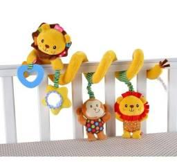 Espiral de pelúcia leãozinho - Pelúcia interativa para bebês