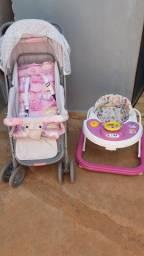 Carrinho de Bebê (Voyage Funny menina) E andador infantil menina