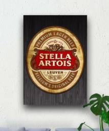 Quadro decorativo area churrasco - cerveja Stella Artois
