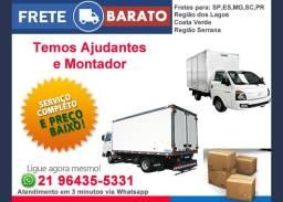 Mudanças Comerciais e Residenciais / Caminhões de 3.5mts e 6mts (grande)
