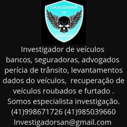 detetive San e  investigador de veículo
