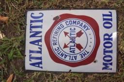 Placa Coleção Atlantic Motor Oil Placa Antiga