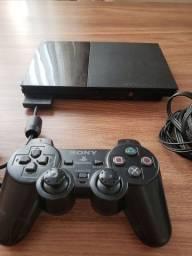 Playstation2 Slim Completo - Não Lê CD