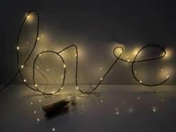 Luminária LED decorativo LOVE