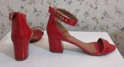 Sandália Vermelha Verniz