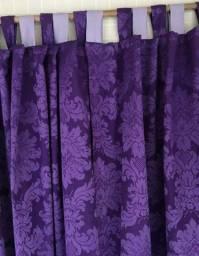 Jogo cortina longa em tecido Jacquard_ medida 3 largura