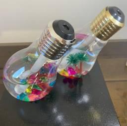 Umidificador de ar em formarão de lâmpada com led aromatizador