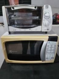 Vendo forninho de 10litros e forno microondas
