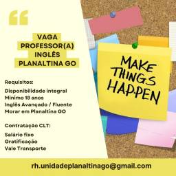 Título do anúncio: Vaga Emprego - Professor(a) Inglês - Escola de Ensino Profissionalizante