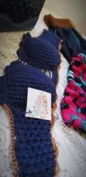 Conjunto Crochê e algodão.