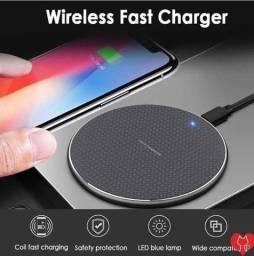 Carregador De Celular Sem Fio Por Indução Qi Fast Charger