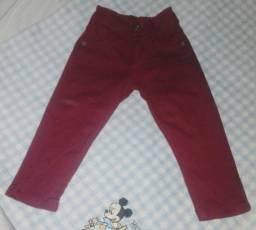 Calça Jeans Vinho Infantil