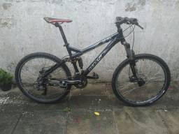 Bike de alumínio suspensão Full