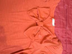 Camisa Feminina Tamanho M cor alaranjada