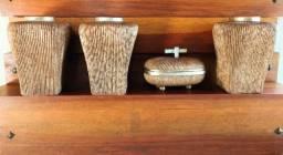 Conjunto de vasos decorativos