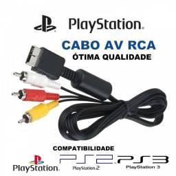 Título do anúncio: Cabo Av - Rca Áudio E Vídeo Para Playstation Ps3 Ps2 Ps1
