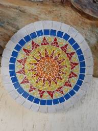 Mandala artesanal. Sol Inca.