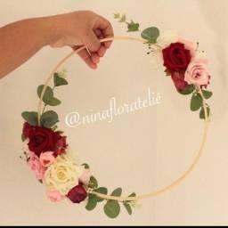 Porta alianca bastao com flores