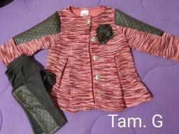 Conjunto  de calça  e blusa Menina tam.1