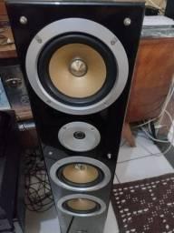 Título do anúncio: Pure Acoustics QX900F - Par de caixas acústicas Torre 300w 3-vias Preto