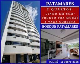 Bosque Patamares- 2 quartos em 65m² - 1 vaga -  Patamares-Refinado