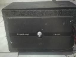 Caixa trio +módulo explosound3600
