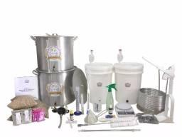 Kit Completo para fabricação de Cerveja Artesanal C/ Moedor e Fogareiro