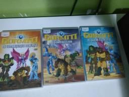 3 dvds do Gormiti