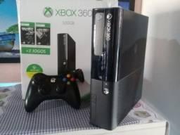 Xbox 360 slim 500 gb com 64 jogos