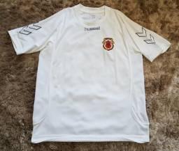 911487a841 Camisa futebol seleção Gibraltar Hummel XL branca original e importada