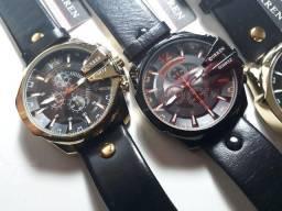 Relógio Curren importado pulseira de couro barato