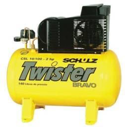 Compressor De Ar 10 Pés 100 Litros Schulz Twister Monof