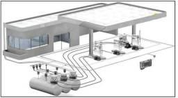 Posto de combustível montagem, instalação e construção