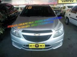 GM Onix Hatch Completo + GNV Ent de 3.000,00 + 48 x 798,00 IPVA 2020 Grátis - 2018