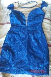 Vendo lindo vestido azul rendado R$40 PRA VENDER AGORA