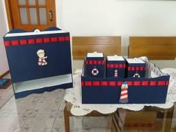 Kit higiene bebê personalizados em mdf