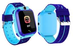 Relógio Pulseira Smartwatch Câmera Som Infantil Azul Gps Ligação Novo na Caixa
