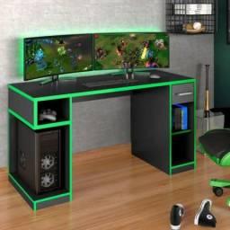 Lançamento Mesa Escrivaninha PRO Gamer 1.36m + *Brinde* = Pronta entrega!