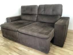 Sofá dois lugares retrátil e reclinável